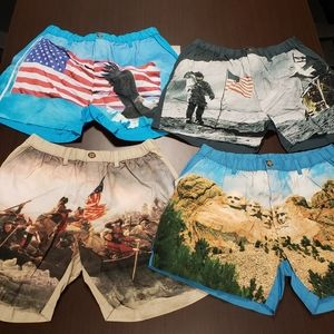 """lot of 4 Chubbies New Shorts Themed 7"""" Inseam XL"""
